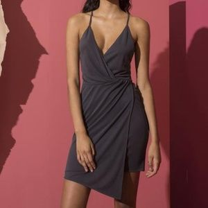 Stylestalker Gray Leah Mini Dress